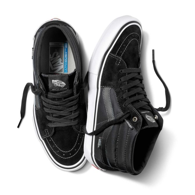 b380cb236d Vans X Anti-Hero Sk8 Mid Pro Grosso Black Skate Shoes
