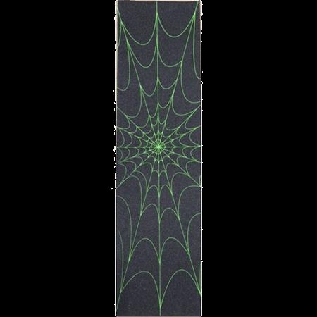 Spider Green Skateboard Griptape