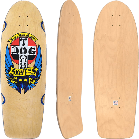 "Dogtown OG Classic Bull Dog 10"" Reissue Skateboard Deck"