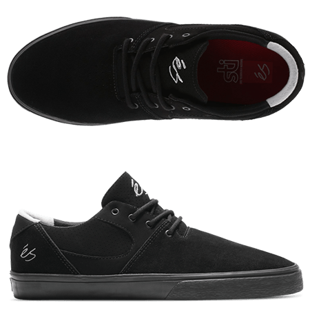 0f5fc6661d These Accel SQ Black Grey Skate Shoes are a comfortable and famous design  from éS Footwear. This time in a full Black and Grey.