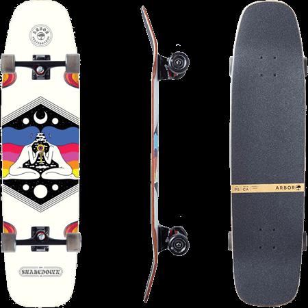"""Arbor Shakedown 37"""" Crosscut Complete Cruiser Skateboard"""