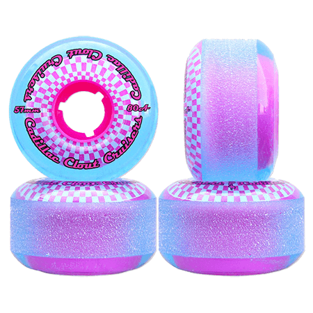 Cadillac Clout Cruisers 57mm 80a Blue Pink Skateboard Wheels