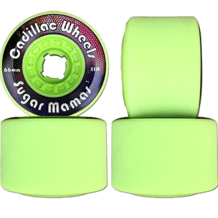 Cadillac Sugar Mamas V3 Lime 66mm 81a Longboard Wheels