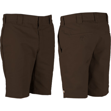 """Dickies 872 Slim 10"""" Chocolate Brown Shorts"""