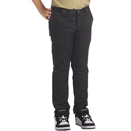 Dickies Youth 801 Flex Skinny Straight Charcoal Pants
