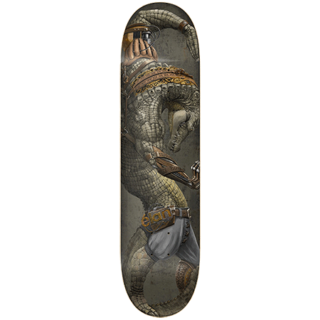 "élan Steampunk Crocodile 8.25"" Redline Slick Skateboard"