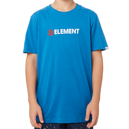 Element Horizontal Youth Tee Washed Blue