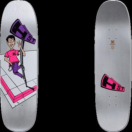 "H-Street Hensley Full Size Mini Graphic Silver 8.9"" Skateboard Deck"