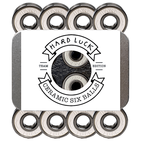 Hard Luck Great Times Ceramic Stainless Six Ball Skate Bearings