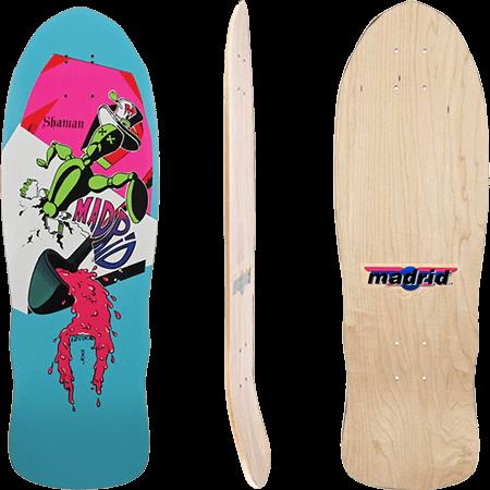 """Madrid Shaman OG 9.875"""" Reissue Skateboard Deck"""