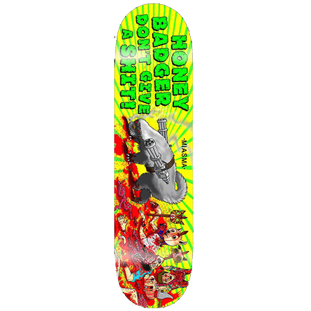 "Miasma Honey Badger 7.75"" Redline Skateboard"
