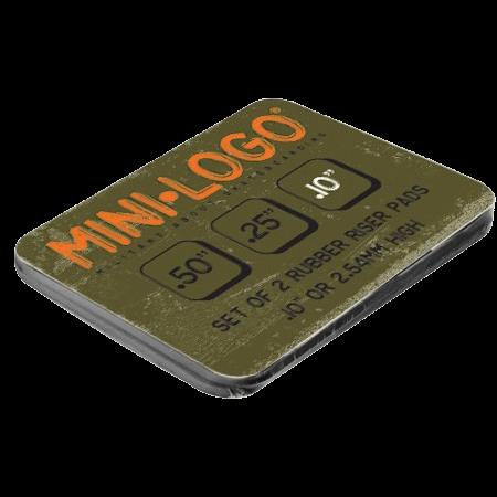 "Mini-logo 1/10"" flat rubber risers"