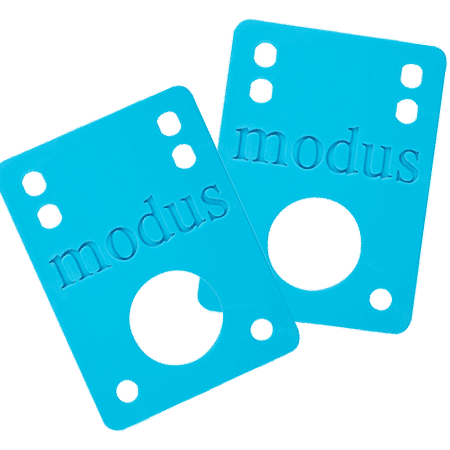 "Modus 1/8"" Blue Skate Riser Pads"