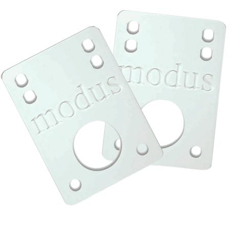 "Modus 1/8"" White Skate Riser Pads"