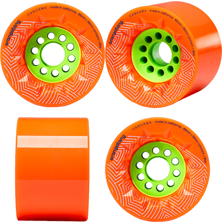 Orangatang Caguama 85mm 80a Orange Longboard Wheels