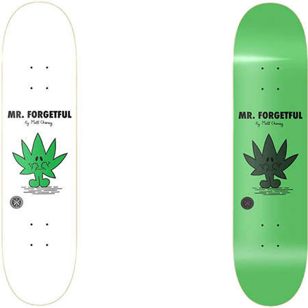 "Parlay Mr Forgetful Glow 8.5"" Skateboard Deck"