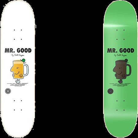 "Parlay Mr Good Glow 8.5"" Slick Skateboard Deck"