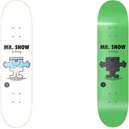 "Parlay Mr Snow Glow 7.75"" Skateboard Deck"
