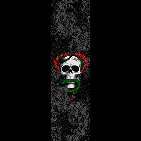"""Powell Peralta McGill Skull And Snake 10.5"""" x 33"""" Skateboard Griptape Sheet"""