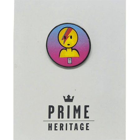 Prime Heritage Lance Mountain David Bowie Red Lapel Pin
