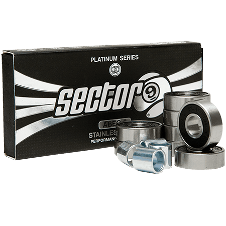 Sector 9 Platinum Stainless Abec 9 Skateboard Bearings