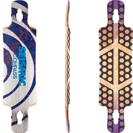 "Seismic Compass 36"" Longboard Skateboard Deck"