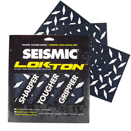 Seismic Lokton Metal Plate Big Rock Longboard Griptape Pack