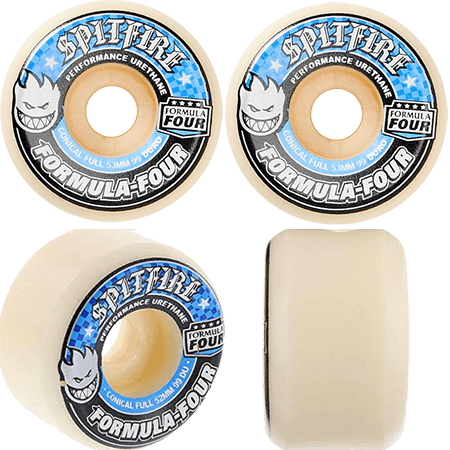 Spitfire F4 Conical Full 53mm 99a Skateboard Wheels