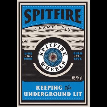 Spitfire OG Circle Blue Lapel Pin