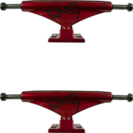 "Theeve CSX 5.5"" Red Black Skateboard Trucks"