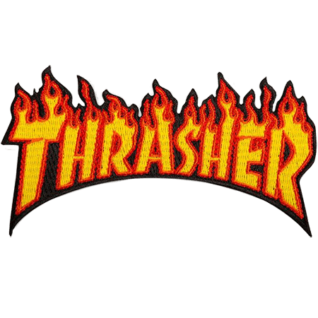 """Thrasher Flame 4.5"""" Patch"""