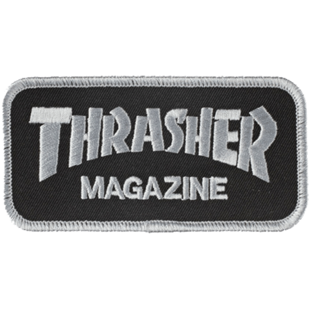 Thrasher Logo Black Silver Patch