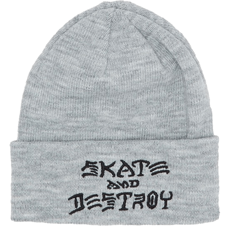 Thrasher Search And Destroy Embroidered Grey Beanie