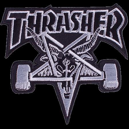 Thrasher Skategoat Black White Patch