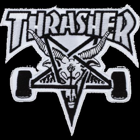Thrasher Skategoat White Black Patch