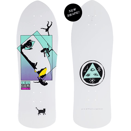 "Welcome Chris Miller Faces on Crossbone  10"" Oldschool Skateboard"