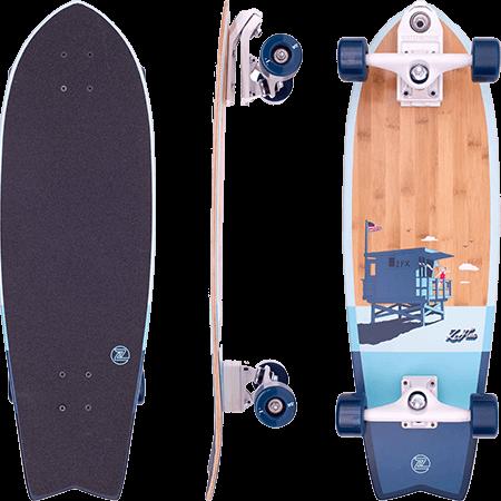"Z-Flex Bamboo Fish 31"" Surfskate Cruiser Skateboard"