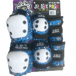 187 Junior Six Pack Skateboard Knee Elbow Wrist Pads Staab Blue