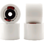 RAD Advantage 74mm 78a White Longboard Skateboard Wheels