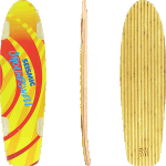 "Seismic Ground Swell 34"" Longboard Skateboard"
