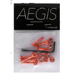 "Aegis Anodised Orange 1"" Allen Deck Bolts"