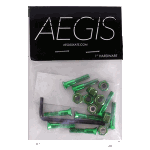 "Aegis Anodised Green 1"" Allen Deck Bolts"
