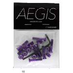 "Aegis Anodised Purple 1"" Allen Deck Bolts"