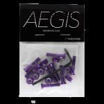 "Aegis Anodised Purple 1"" Allen Deck Bolts"