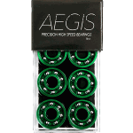 Aegis Precision High Speed Shieldless Green Skateboard Bearings