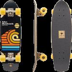 """Arbor Pocket Rocket Artist Draplin 27"""" Cruiser Complete Skateboard"""