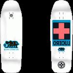 "Black Label Lucero Cross 10"" White Dip Skateboard Deck"