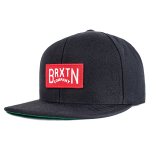 Brixton Langley Black Snapback Hat Cap