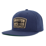 Brixton National Navy Snapback Hat Cap