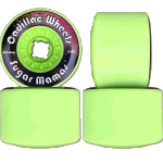 Cadillac Sugar Mamas V3 Lime 66mm 81a Longboard Wheels